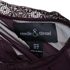 Needle thread ruffle midi dress 2?1540801294