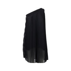 Pleated One-Shoulder Dress