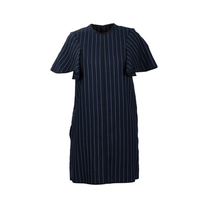 Authentic Second Hand Victoria Victoria Beckham Pinstriped Wool Dress (PSS-565-00002)