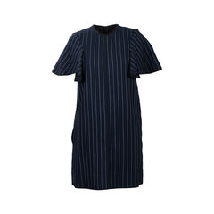 Pinstriped Wool Dress