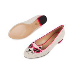 Charlotte olympia sunkissed kitty embroidered flats 2?1541412531