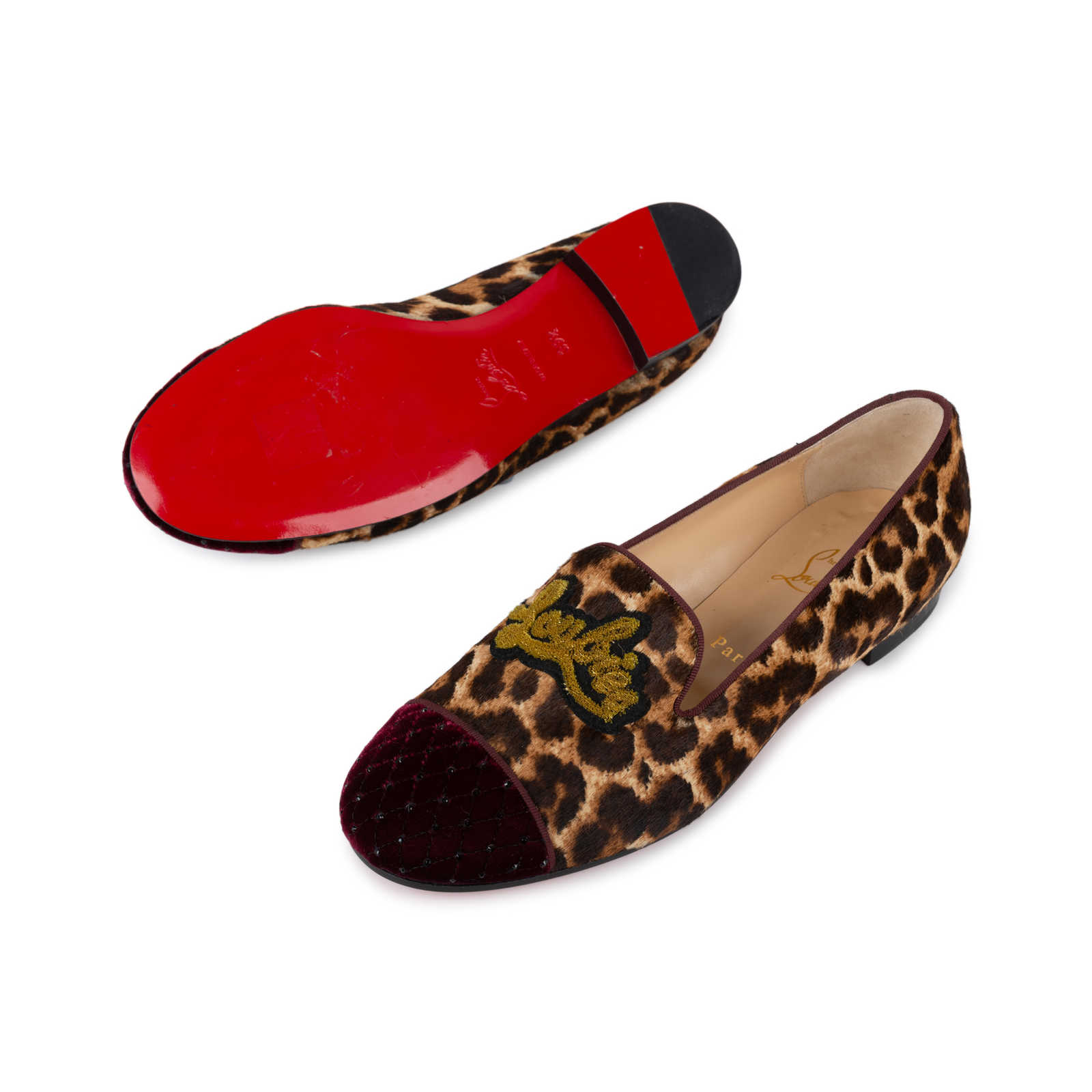 9a2fa411abfb ... Authentic Second Hand Christian Louboutin My Love Loafers  (PSS-569-00013) ...