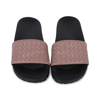 Authentic Pre Owned Bottega Veneta Intrecciato Speedster Slides (PSS-569-00022)