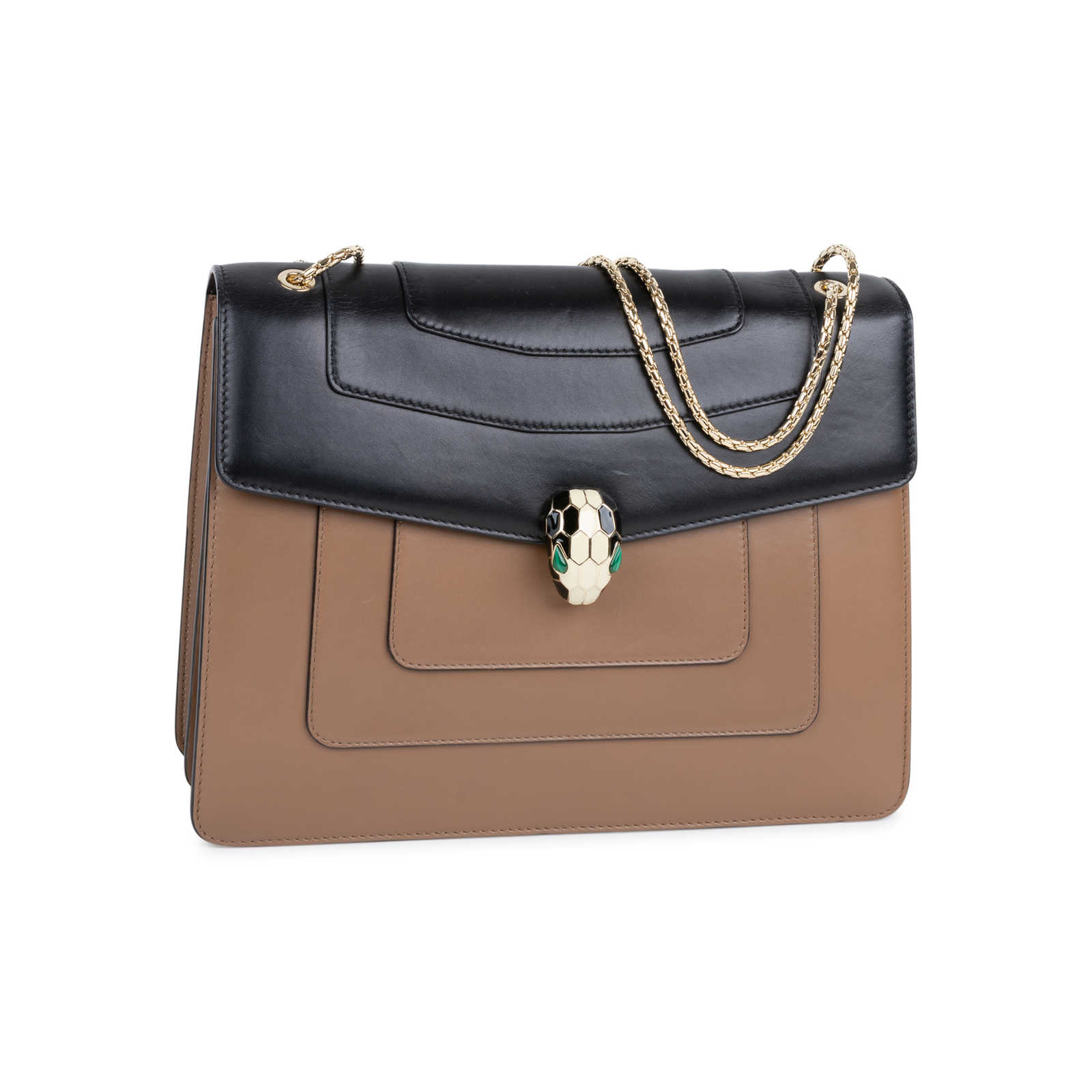 67823ccd9490 ... Authentic Second Hand Bulgari Serpenti Forever Flap Bag (PSS-569-00001)  ...