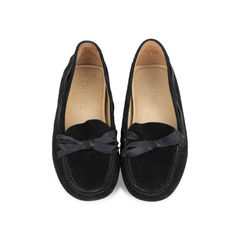 Ribbon Suede Loafers
