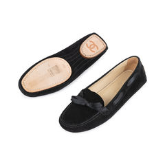 Chanel ribbon suede loafers 2?1541575708