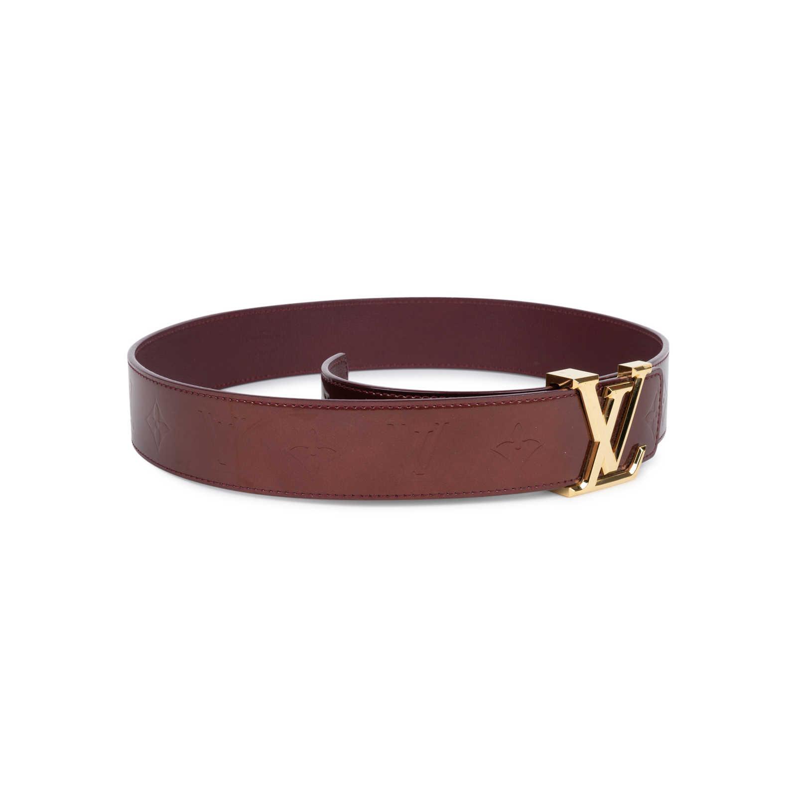Authentic Second Hand Louis Vuitton Monogram Vernis LV Belt