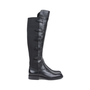 Authentic Pre Owned Emporio Armani Stretch Detail Leather Boots (PSS-099-00022) - Thumbnail 1