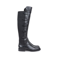Emporio armani stretch detail leather boots black 2?1541575911