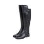 Authentic Pre Owned Emporio Armani Stretch Detail Leather Boots (PSS-099-00022) - Thumbnail 3