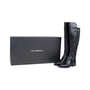 Authentic Pre Owned Emporio Armani Stretch Detail Leather Boots (PSS-099-00022) - Thumbnail 5