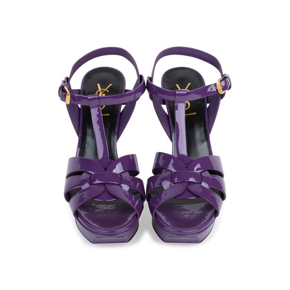 Authentic Pre Owned Yves Saint Laurent Purple Tribute Sandals (PSS-566-00075)