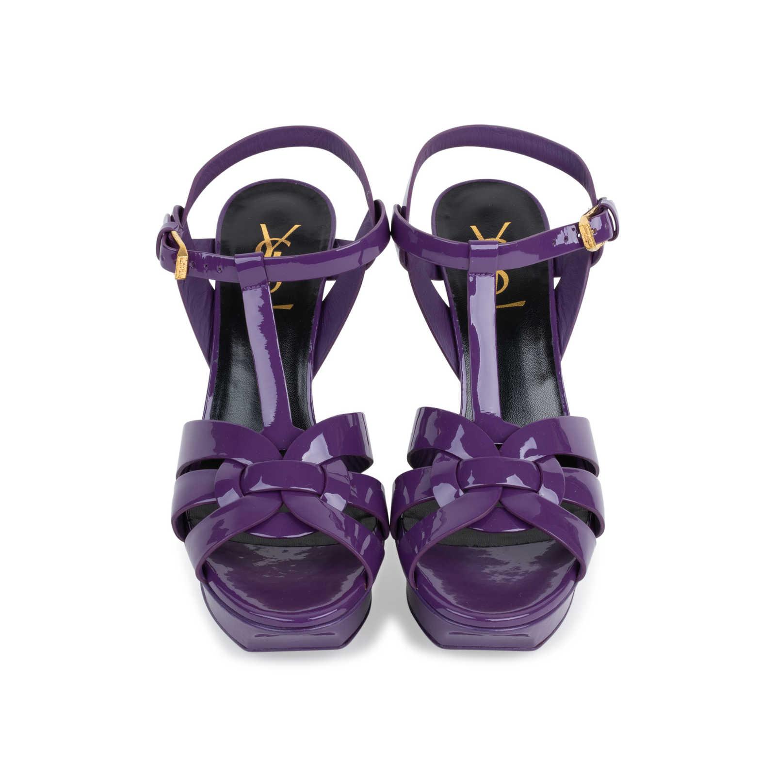 50397b68 Authentic Second Hand Yves Saint Laurent Purple Tribute Sandals (PSS ...