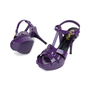 Authentic Pre Owned Yves Saint Laurent Purple Tribute Sandals (PSS-566-00075) - Thumbnail 1