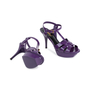 Authentic Pre Owned Yves Saint Laurent Purple Tribute Sandals (PSS-566-00075) - Thumbnail 2
