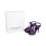 Authentic Pre Owned Yves Saint Laurent Purple Tribute Sandals (PSS-566-00075) - Thumbnail 6