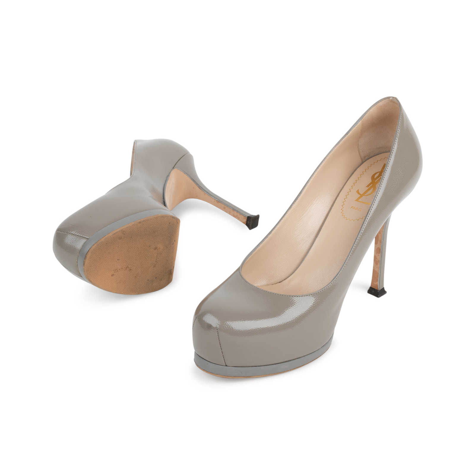 f9967beddd9 ... Authentic Second Hand Yves Saint Laurent Tribtoo Pumps (PSS-566-00076)  ...