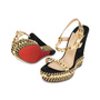 Authentic Pre Owned Christian Louboutin Suede Cataclou 140 Wedges (PSS-566-00079) - Thumbnail 1