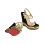 Authentic Pre Owned Christian Louboutin Suede Cataclou 140 Wedges (PSS-566-00079) - Thumbnail 2