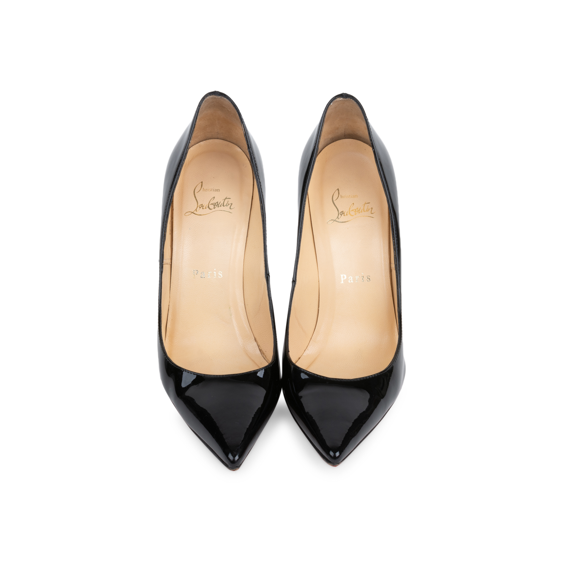 a700befc1e4f Authentic Second Hand Christian Louboutin Decollete 554 100 Patent Pumps  (PSS-566-00093)