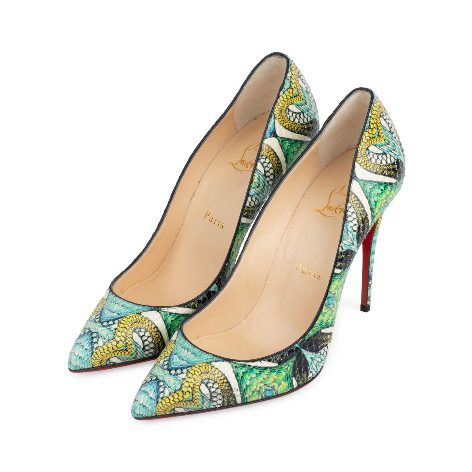 various colors 8d12e eafb1 Authentic Second Hand Christian Louboutin Python Inferno So ...