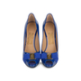 Authentic Second Hand Salvatore Ferragamo Plum Peep Toe Pumps (PSS-566-00101) - Thumbnail 0