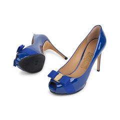 Salvatore ferragamo plum peep toe pumps 2?1542019205