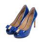 Authentic Second Hand Salvatore Ferragamo Plum Peep Toe Pumps (PSS-566-00101) - Thumbnail 3