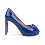 Authentic Second Hand Salvatore Ferragamo Plum Peep Toe Pumps (PSS-566-00101) - Thumbnail 4