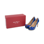 Authentic Second Hand Salvatore Ferragamo Plum Peep Toe Pumps (PSS-566-00101) - Thumbnail 6