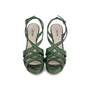 Authentic Pre Owned Miu Miu Criss Cross Python Platform Sandals (PSS-566-00105) - Thumbnail 0