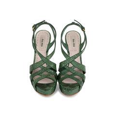 Criss Cross Python Platform Sandals