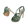 Authentic Pre Owned Miu Miu Criss Cross Python Platform Sandals (PSS-566-00105) - Thumbnail 1