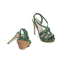 Authentic Pre Owned Miu Miu Criss Cross Python Platform Sandals (PSS-566-00105) - Thumbnail 2
