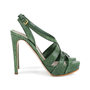 Authentic Pre Owned Miu Miu Criss Cross Python Platform Sandals (PSS-566-00105) - Thumbnail 4