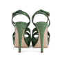 Authentic Pre Owned Miu Miu Criss Cross Python Platform Sandals (PSS-566-00105) - Thumbnail 5