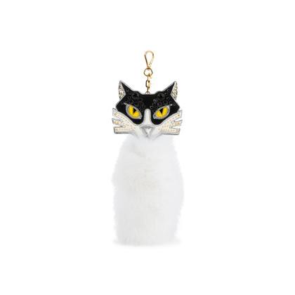 Authentic Second Hand Miu Miu Fur Cat Key Ring (PSS-355-00026)