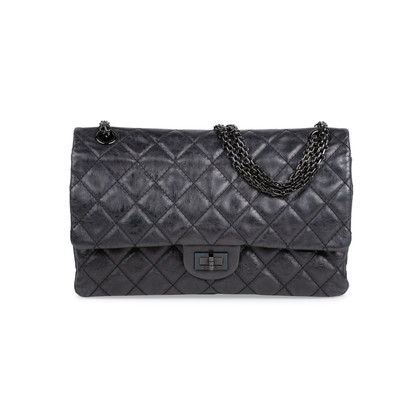 Authentic Pre Owned Chanel So Black Reissue 2.55 (PSS-424-00107)