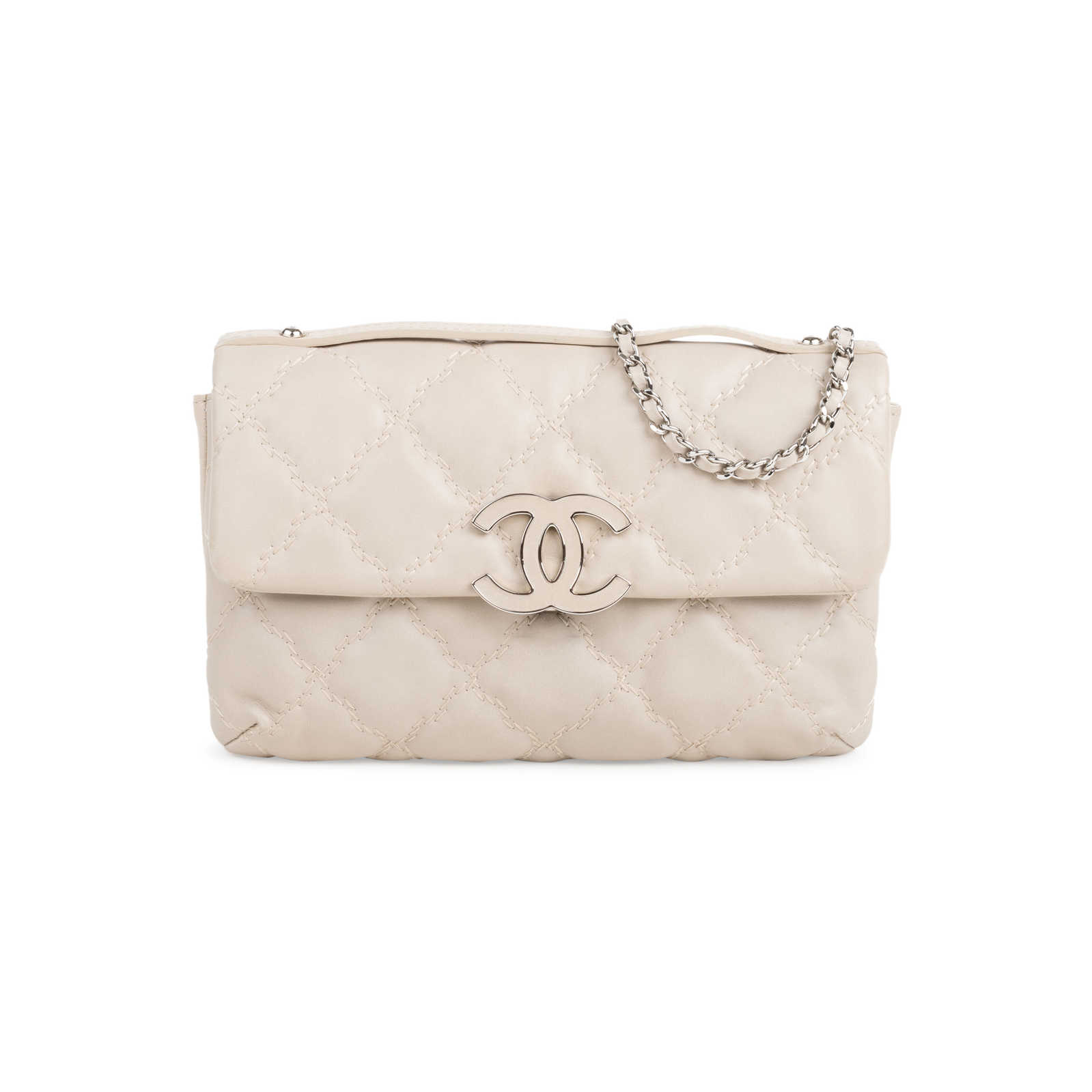 2842493846b2 Authentic Second Hand Chanel Quilted Stitched Clutch Bag (PSS-424-00108) ...