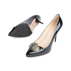 Prada lizard detail pointed pumps 6?1542089191
