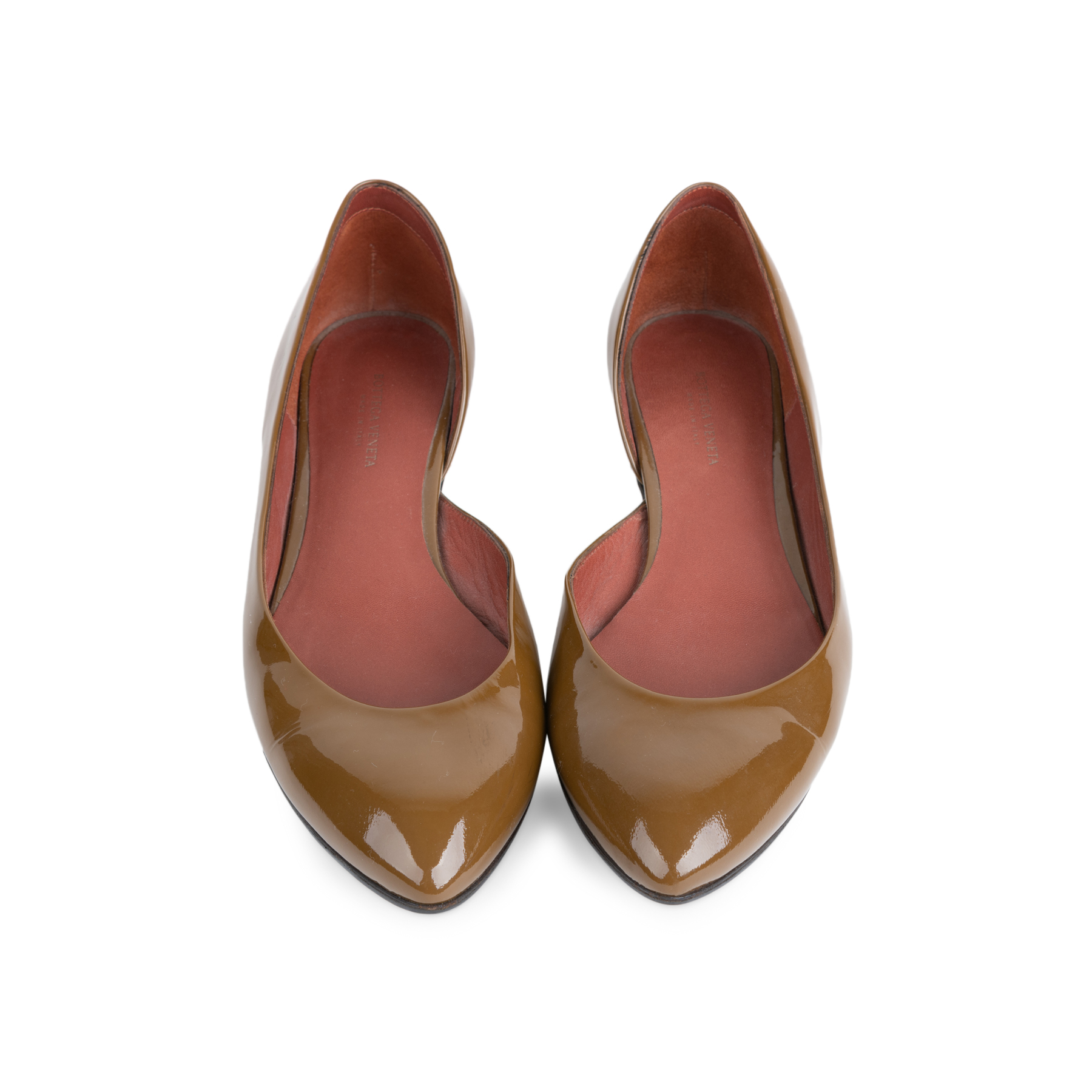 a3f73edc7a72 Authentic Second Hand Bottega Veneta Patent D'Orsay Flats (PSS-556-00013) -  THE FIFTH COLLECTION