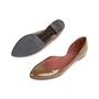 Authentic Second Hand Bottega Veneta Patent D'Orsay Flats (PSS-556-00013) - Thumbnail 4