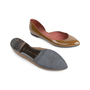 Authentic Second Hand Bottega Veneta Patent D'Orsay Flats (PSS-556-00013) - Thumbnail 2