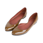 Authentic Second Hand Bottega Veneta Patent D'Orsay Flats (PSS-556-00013) - Thumbnail 3