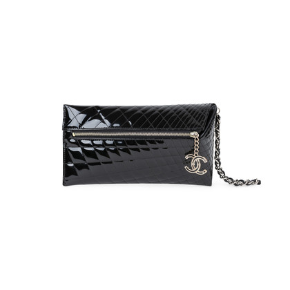 Authentic Pre Owned Chanel Patent Quilted Gala Clutch (PSS-575-00034)
