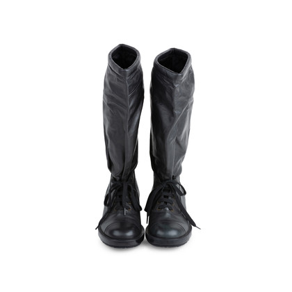 Authentic Pre Owned Chanel Knee High Boots (PSS-575-00035)