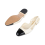Authentic Second Hand Chanel Slingback Cap Toe Flats (PSS-575-00036) - Thumbnail 4