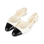 Authentic Second Hand Chanel Slingback Cap Toe Flats (PSS-575-00036) - Thumbnail 2