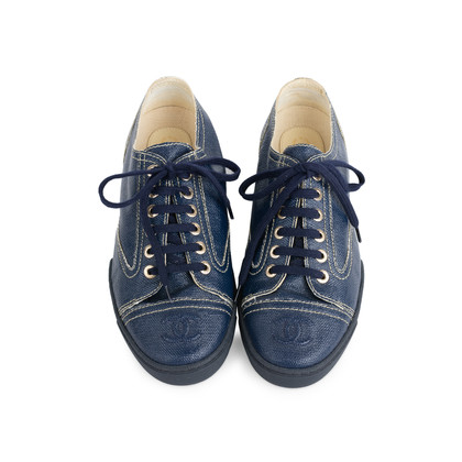 Authentic Second Hand Chanel Coated Canvas Oxfords (PSS-575-00037)