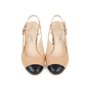 Authentic Pre Owned Chanel Cap Toe Slingback Sandals (PSS-575-00039) - Thumbnail 0